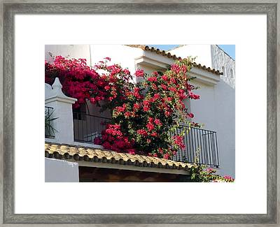 Andalusian Balcony Framed Print by Jo Ann