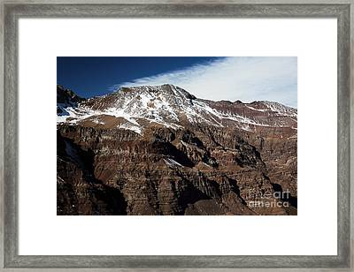 Andes Majesty Framed Print by John Rizzuto