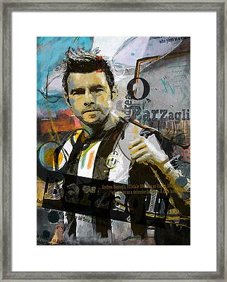Andrea Barzagli - C Framed Print by Corporate Art Task Force