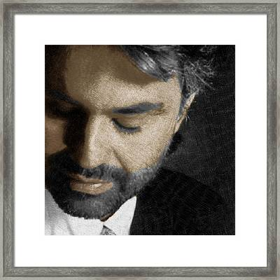 Andrea Bocelli And Square Framed Print by Tony Rubino