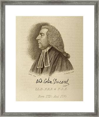 Andrew Ducarel Framed Print by Middle Temple Library