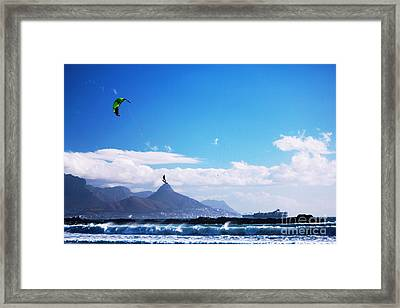 Andries - Redbull King Of The Air Cape Town  Framed Print by Charl Bruwer