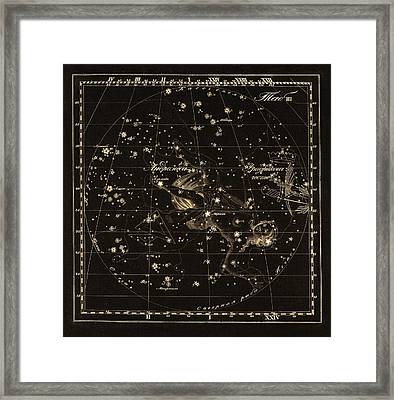 Andromeda Constellations, 1829 Framed Print by Science Photo Library