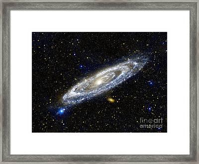 Andromeda Galaxy, Ultraviolet Image Framed Print by Nasa