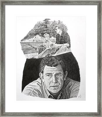 Andy Griffith Framed Print by Randy Mitchell
