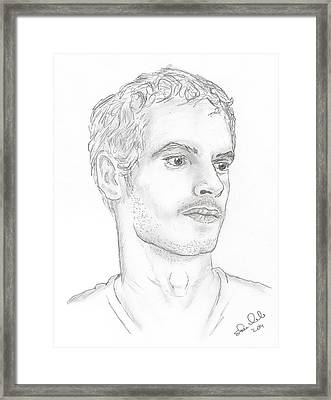 Andy Murray Framed Print by Steven White
