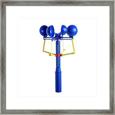Anemometer Framed Print by Science Photo Library