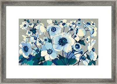 Anemones Japonaises I Framed Print by Shirley Novak