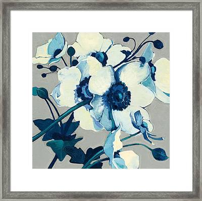 Anemones Japonaises II Framed Print by Shirley Novak
