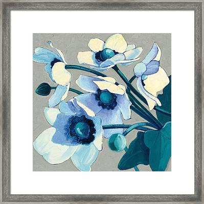 Anemones Japonaises IIi Framed Print by Shirley Novak