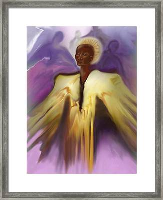 Angel And Guides Framed Print by Linda Marcille