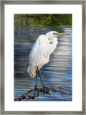 Angel At Sylvia's Pond Framed Print by Phyllis Beiser