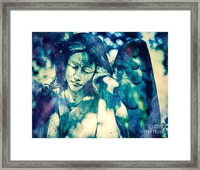 Angel Blue Framed Print by Sonja Quintero