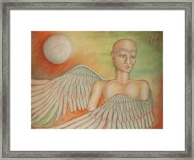 Angel Boy Framed Print by Claudia Cox