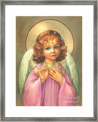 Angel Child Framed Print by Zorina Baldescu