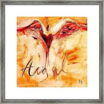 Angel De Amor Framed Print by Ivan Guaderrama