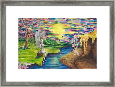 Angel Fairy Framed Print by Yolanda Raker