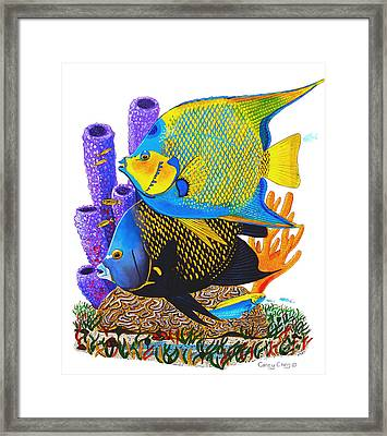 Angel Fish Framed Print by Carey Chen