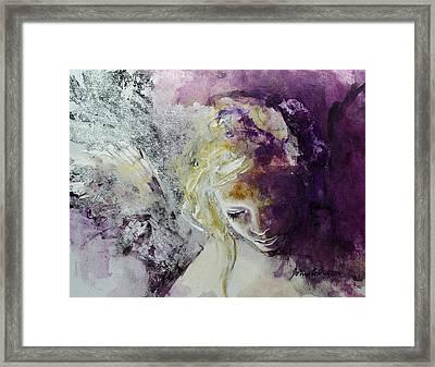Angel In Chiaroscuro Framed Print by Dorina  Costras