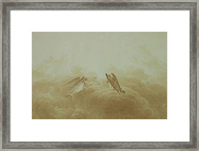 Angel In Prayer Framed Print by Caspar David Friedrich