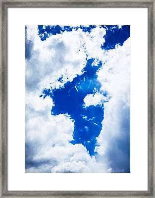 Angel In The Sky Framed Print by Omaste Witkowski