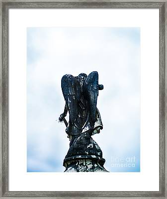 Angel In Waiting Framed Print by Sonja Quintero