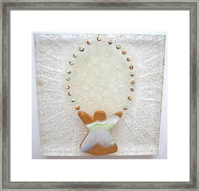 Angel Plays - Ice Breaks Framed Print by Heidi Sieber