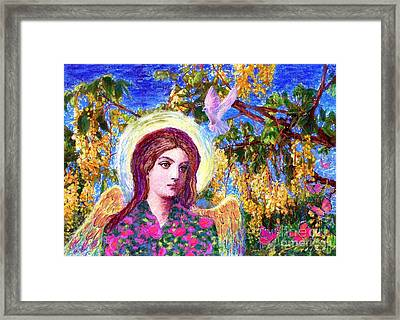 Angel Love Framed Print by Jane Small