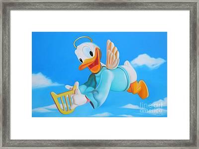 Angel Framed Print by Michael Loeb