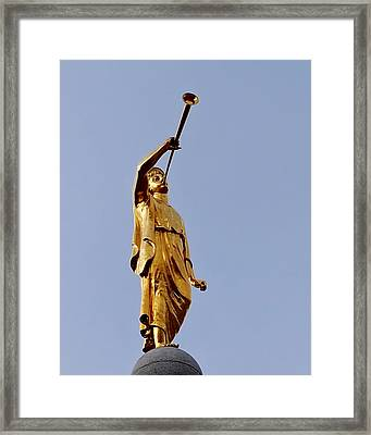 Angel Moroni Framed Print by Rona Black