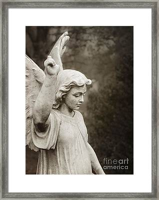 Angel Of Comfort Framed Print by Terry Rowe