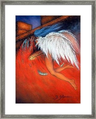 Angel Of Death  Framed Print by Guillaume Bruno