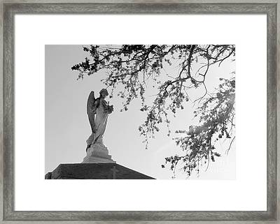 Angel Of Faith Framed Print by Elizabeth Fontaine-Barr