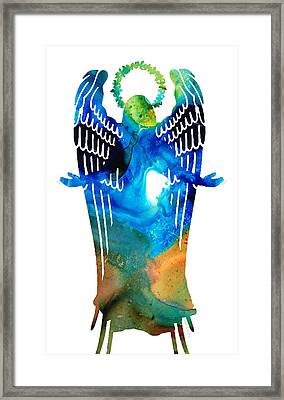 Angel Of Light - Spiritual Art Painting Framed Print by Sharon Cummings