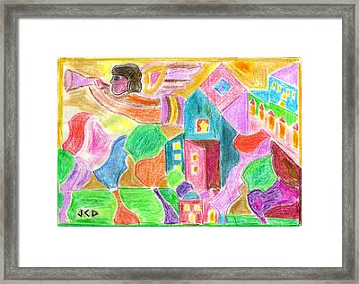 Angel Of Peace Framed Print by Jean-Claude Delhaise