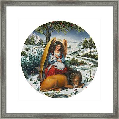 Angel Of Peace Framed Print by Lynn Bywaters