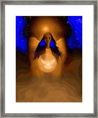 Angel Of Peace Framed Print by Robert Foster