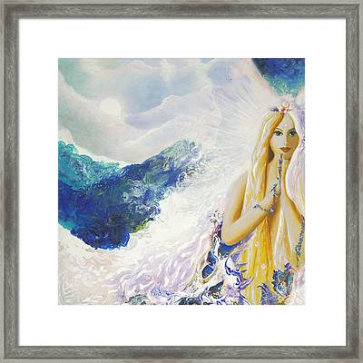 Angel Of Peace Framed Print by Valerie Graniou-Cook