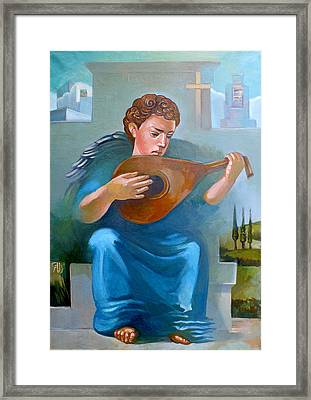 Angel Of Recession Framed Print by Filip Mihail