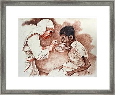 Angel Of The Gutter Framed Print by Sourav Bose