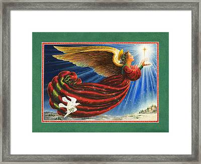 Angel Of The Star Framed Print by Lynn Bywaters