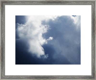 Cloud Angel Kneeling In Prayer Framed Print by Belinda Lee