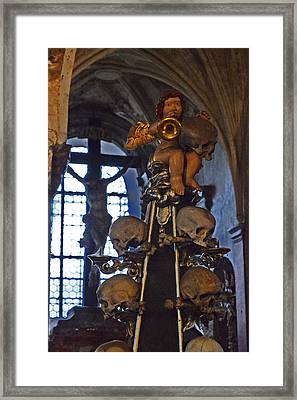 Angel Playing Trumpet. Framed Print by Andy Za