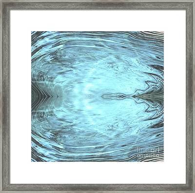 Angel Reflection Abstract Earth Art Framed Print by Animated Sentiments