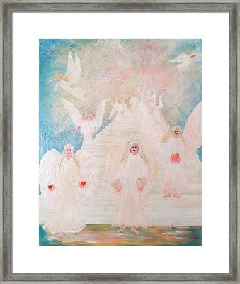 Angel Stairway Framed Print by Karen Jane Jones