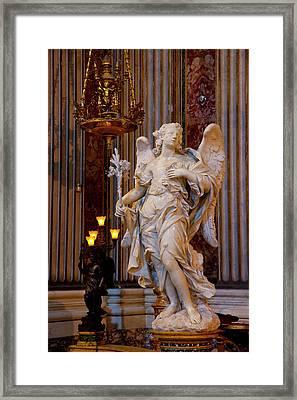 Angel Statue Inside Chiesa Di Sant Framed Print by Brian Jannsen