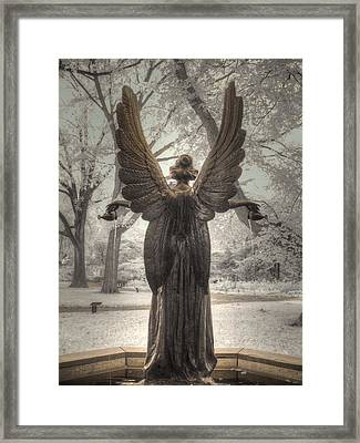 Angel Statue Framed Print by Jane Linders