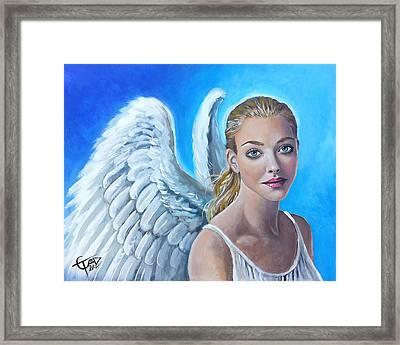 Angel Framed Print by Tom Carlton
