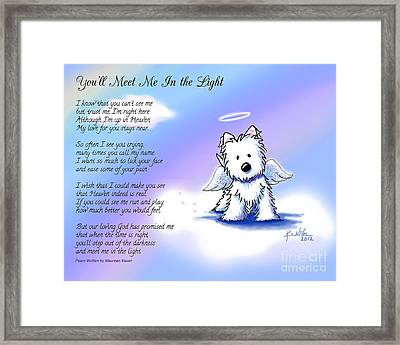 Angel Westie With Poem Framed Print by Kim Niles
