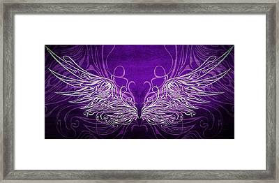 Angel Wings Royal Framed Print by Angelina Vick